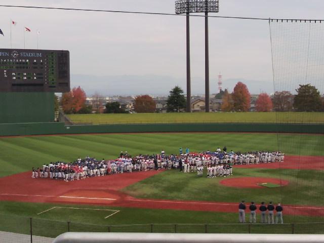 少年野球リーグ閉幕式